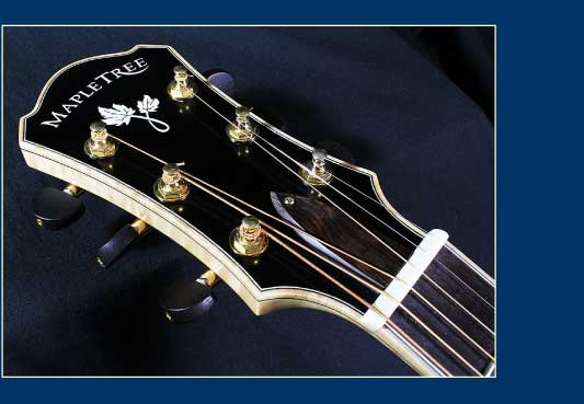 MapleTree Guitars Headstock with Mother of Pearl Inlay
